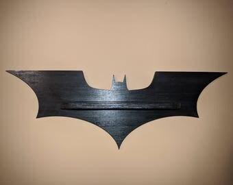 "Batman Dark Knight/Batarang Inspired Display Shelf - 24"" Wide 4"" Deep"