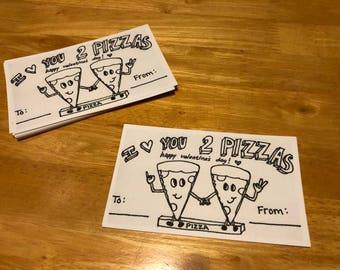 Set of 12 Valentines (School/Kids/Coloring)