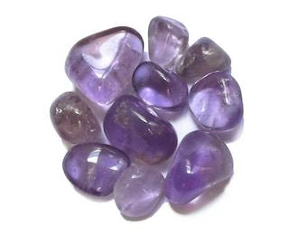 Set of 10 AMETHYST tumbled stones #2