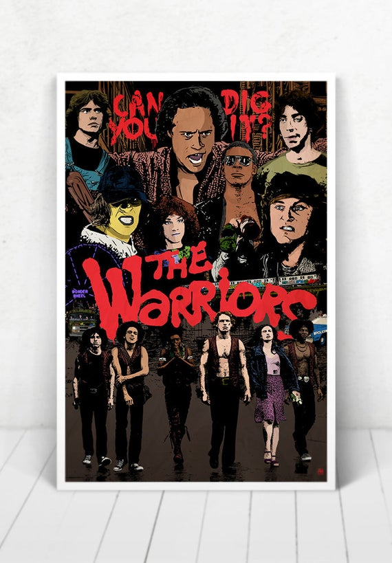 The Warriors Movie Poster Illustration / The Warriors Movie Poster / The Warriors / Movie Poster