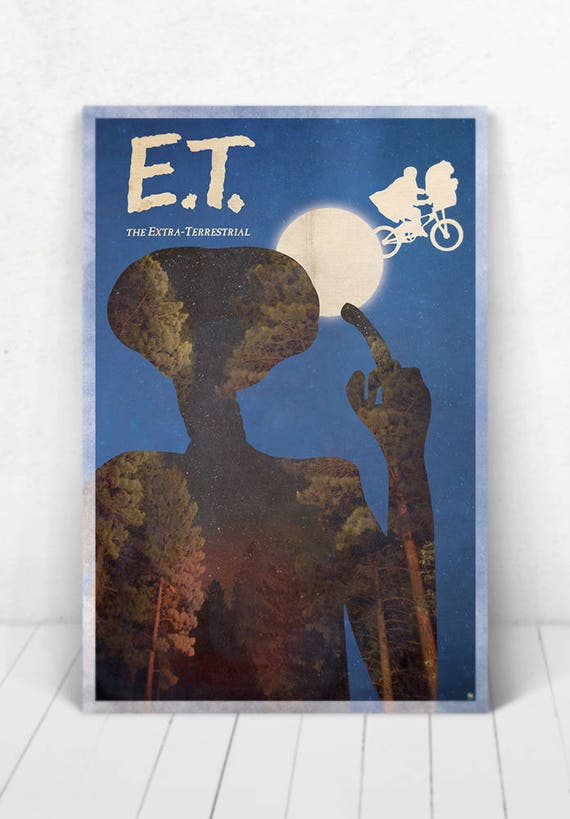 E.T. The Extraterrestrial Poster - Illustration / E.T. The Extraterrestrial