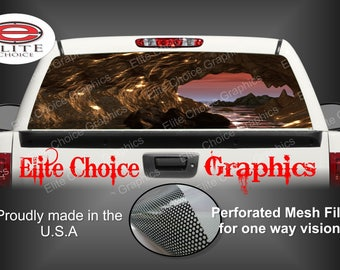 Low Tide Cave Caverns Rear Window Graphic Tint Decal Sticker Truck SUV Van Car