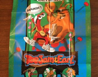20% OFF SALE New Unused Vintage 1991 Sega Genesis Toe Jam and Earl Poster Promo Poster Video Game Poster Vintage Sega Poster Collectible