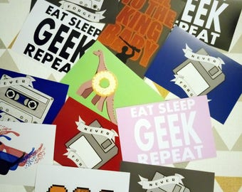 SALE Three Geeky Art Prints for a Fiver!
