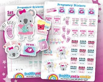 66 Cute Pregnancy/Pregnant/Baby Planner Stickers, Filofax, Erin Condren, Happy Planner,  Kawaii, Cute Sticker, UK