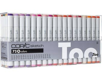 COPIC 72pc SKETCH Set A Alcohol Markers S72A Too Anime Artist Comic Color
