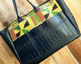 African Print Purse, Kente Tote