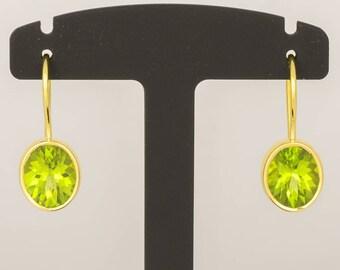 Earrings • Peridot • gold • 18 K