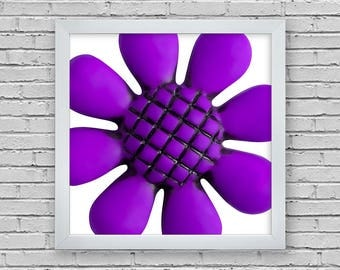purple flower print,3 sizes included,Instant download,photography,printable,wall art,digital,canvas,print,