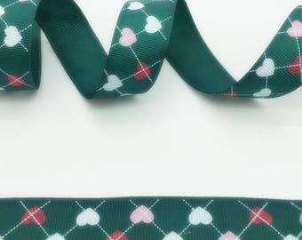 Ribbon sold heart falling 115cm and 25 mm