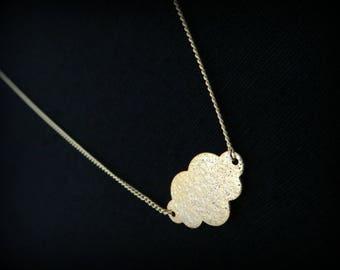Gold cloud necklace