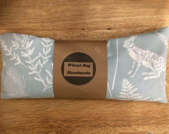 Wheat bag country blue fabric