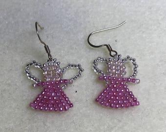 Beaded earrings angels