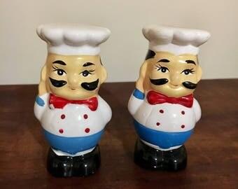 Vintage retro salt and pepper shaker