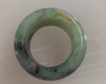 Vintage Natural jade made thumb ring