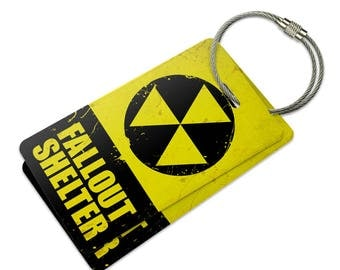 Fallout Shelter Suitcase Bag Id Luggage Tag Set