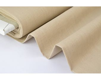 X50cm Beige washed linen fabric