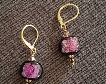 Foil delight earrings