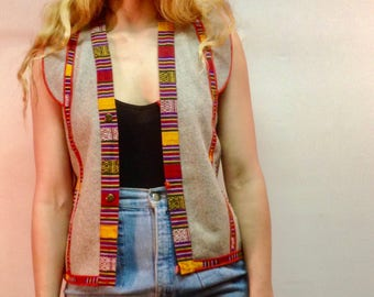 vintage Tibetan vest / boho vest / hippie vest