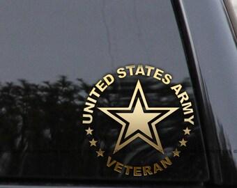 US Army Veteran Car Truck Window Laptop Decal Sticker