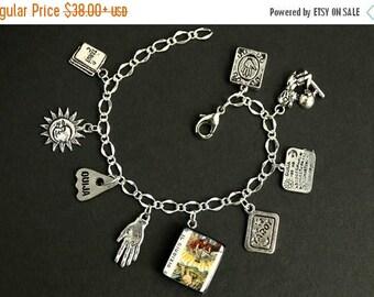 BACK to SCHOOL SALE Tarot Bracelet. Judgement Charm Bracelet. Divination Bracelet. Silver Bracelet. Il Giudizio Bracelet Tarot Jewelry. Meta