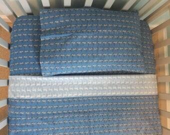 Blue Zebra Toddler Sheet Set