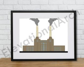 Architecture Graphic Print. Landmark London Building Artwork. High quality fine detail line drawing. Perfect home decor.