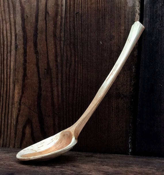 Hand Carved Wooden Soup Ladle