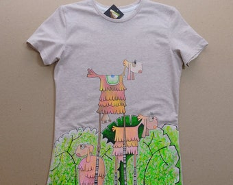 """T-shirt with author's painting """"Sheeps"""""""