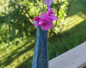 Vase / blue chandelier, shabby chic - refurbished Aina