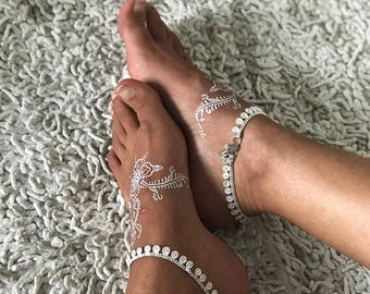 Athena anklet by Barefoot Gypsea silver plated anklet, payal, sold separately barefoot jewellery