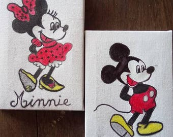 mickey and minnie table