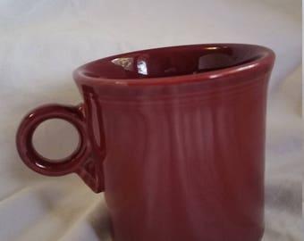 Maroon Fiesta Ware mug