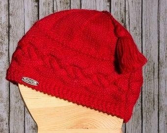 Hat Red 100% baby alpaca
