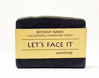 Facial Soap - Activated Charcoal, Charcoal Soap, Cold Process Soap, Homemade Soap, Natural Soap, Tea Tree Soap, Vegan Soap, Acne Face Soap