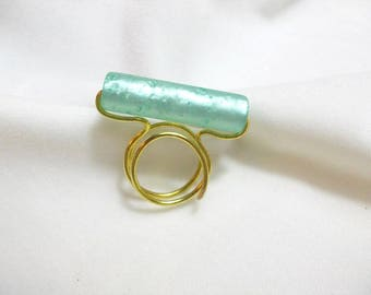 Handmade ring from synthetic bead