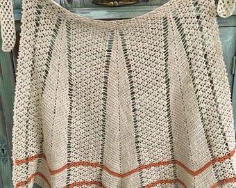 Sale !!!! Stunning hand made vintage crochet Apron / hand crochet apron / crochet apron / vintage apron