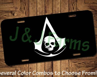 Assassin's Creed Inspired Front License Plate (Tag)