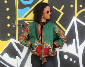 African Print Bomber Jacket - African jacket - Wax Bomber - Dashiki Jacket - Dashiki Bomber jacket - African Clothing - Winter Jacket -