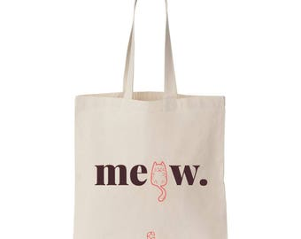 Cesoria Canvas Tote Bag Cat's Meow Black/Coral Red