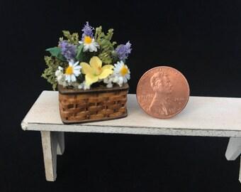 Miniature Basket of Flowers