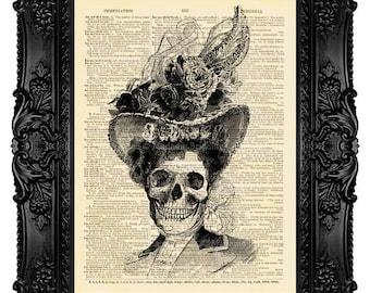 Dark Poster, Gothic Artwork, Skull Poster Art, Home Decor, Calavera Catrina, Day Of The Dead, Dia De Los Muertos, Halloween Print Gift 39