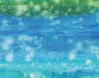 Spearmint Burst Batik from Benartex - Bali Gelato cotton fabric 7506-45 blue green