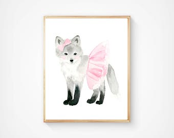 Nursery fox Print -  Nursery Art - baby shower - Nursery Decor - Kids Wall Art -Woodlands nursery art, woodland prints, nursery print set