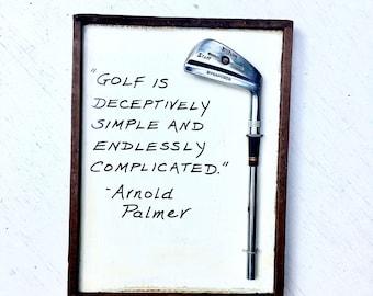 Superb Golf Wall Art/ Golf Sign/ Golf Gift:  Part 10