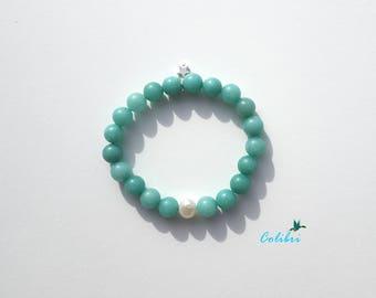 "Amazonite and freshwater pearl bracelet ""Rio Grande do Norte"""