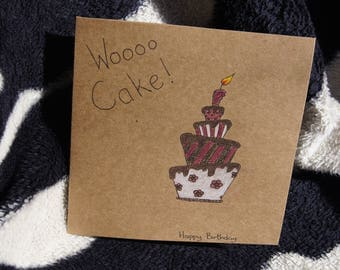 Whoooo Cake! Hapy Birthday Card
