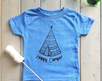 Happy Camper Kids Shirt, Kids Camping Shirt, Kids Fashion, Camping Baby Shirt, Toddler Camping Shirt, Happy Camper Kids Shirts