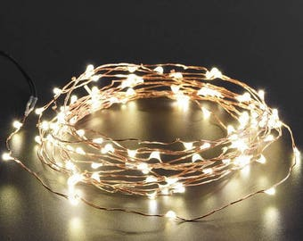 LED Fairy Lights, White Light Copper Wire, Wedding Decor, Christmas Lights 6.6 ft, 2 meters