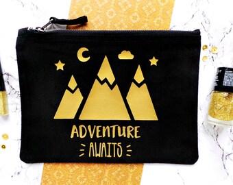 Adventure Make Up Bag, Travel Make Up Bag, Girl Gift, Cosmetic Bag, Makeup Bag, Make Up Pouch, Teenager Gift, Gift For A Friend, Travel Gift
